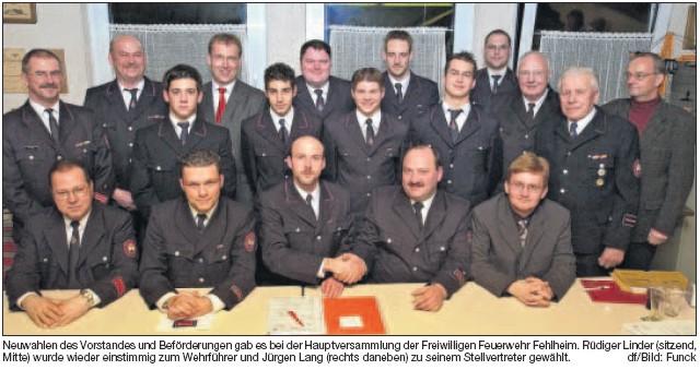 Der neu gewählte Vorstand und Feuerwehrausschuss