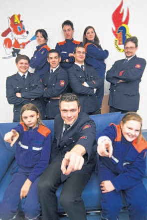 Der Jugendfeuerwehrausschuss im Jugendraum